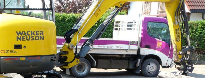 GartenBaur Bagger und effektive Arbeitsweise