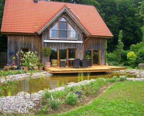 Teich Terrasse Landschaftsgärtner GartenBaur