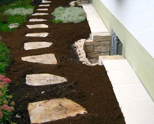 Steinwege Planung vom GartenBaur