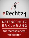 Datenschutzerklärung erecht24 Siegel